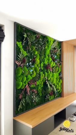 Panou decorativ cu plante naturale stabilizate, muschi de padure si licheni [4]