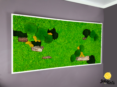 Tablou licheni, muschi bombati si elemente naturale stabilizate, Jolie Arts [3]