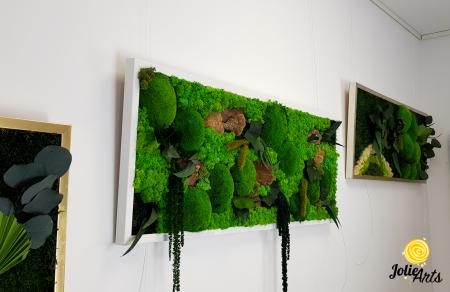 Tablou licheni, muschi bombati de padure si plante naturale stabilizate Jolie Arts, model Amaranthus [1]