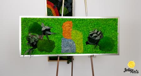 Logo personalizat cu licheni, muschi de padure si plante naturale stabilizate Jolie Arts [3]