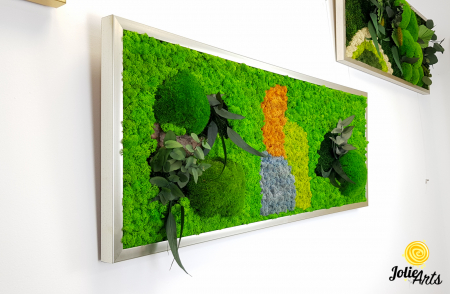 Logo personalizat cu licheni, muschi de padure si plante naturale stabilizate Jolie Arts [4]
