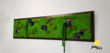 Amaranthus Verde, rama verde patinat cu insertii aurii [1]