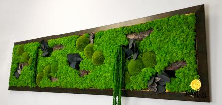 Amaranthus Verde, rama verde patinat cu insertii aurii [4]
