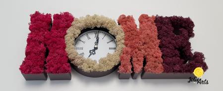 Ceas de perete decorat cu licheni naturali [2]