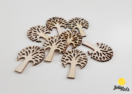Copacei decorativi, culoare natur, dimensiune 3,5 cm [0]