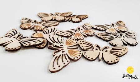 Fluturi decorativi, culoare natur, dimensiune 5 cm [1]
