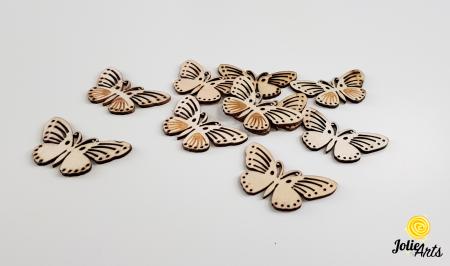 Fluturi decorativi, culoare natur, dimensiune 5 cm [0]