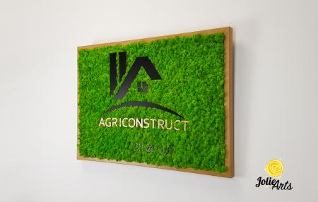 Logo Agriconstruct decorat cu licheni naturali stabilizati [1]