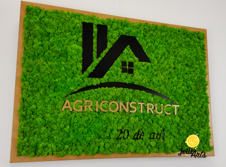 Logo Agriconstruct decorat cu licheni naturali stabilizati [4]