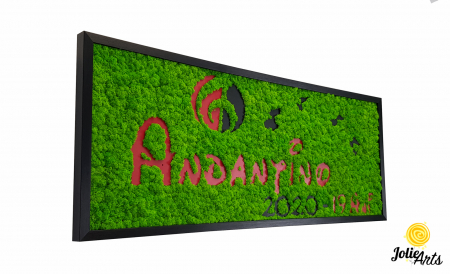 Logo Andantino, dimensiune 40 x 100 cm,  licheni naturali stabilizati, Jolie Arts, www.tablouriculicheni.ro-2 [0]