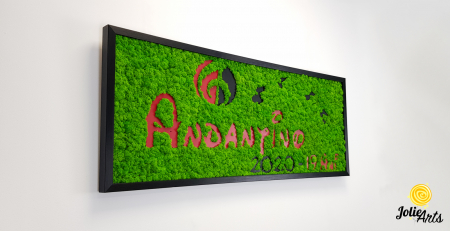 Logo Andantino, dimensiune 40 x 100 cm,  licheni naturali stabilizati, Jolie Arts, www.tablouriculicheni.ro-2 [4]