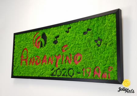 Logo Andantino, dimensiune 40 x 100 cm,  licheni naturali stabilizati, Jolie Arts, www.tablouriculicheni.ro-2 [2]