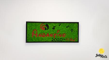 Logo Andantino, dimensiune 40 x 100 cm,  licheni naturali stabilizati, Jolie Arts, www.tablouriculicheni.ro-2 [1]