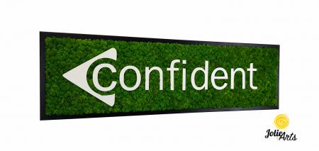 Logo Confident decorat cu licheni naturali stabilizati [0]