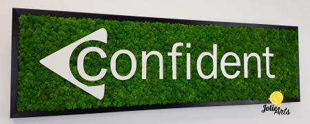 Logo Confident decorat cu licheni naturali stabilizati [4]
