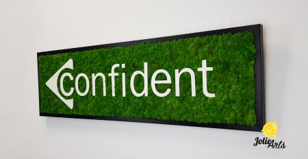 Logo Confident decorat cu licheni naturali stabilizati [1]