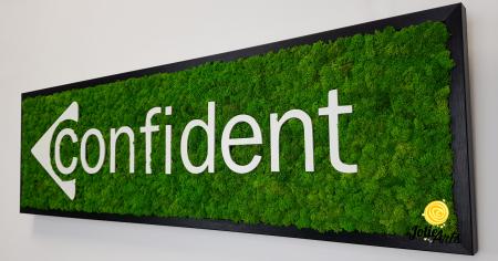 Logo Confident decorat cu licheni naturali stabilizati [5]