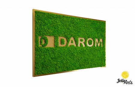 Logo cu licheni naturali stabilizati, culoare verde deschis, dimensiune 80 x 130 cm, Jolie Arts, www.tablouriculicheni.ro-2 [0]
