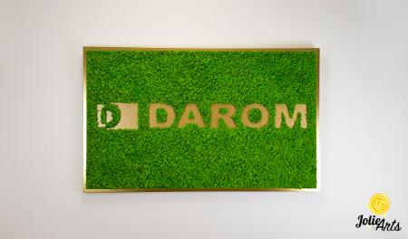Logo cu licheni naturali stabilizati, culoare verde deschis, dimensiune 80 x 130 cm, Jolie Arts, www.tablouriculicheni.ro-2 [2]
