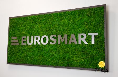 Logo Eurosmart decorat cu licheni naturali stabilizati [2]