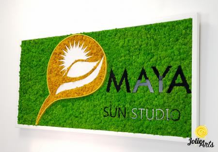 Logo Maya, dimensiune 50 x 100 cm,  licheni naturali stabilizati, Jolie Arts, www.tablouriculicheni.ro-5 [3]