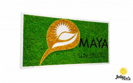 Logo Maya, dimensiune 50 x 100 cm,  licheni naturali stabilizati, Jolie Arts, www.tablouriculicheni.ro-5 [0]