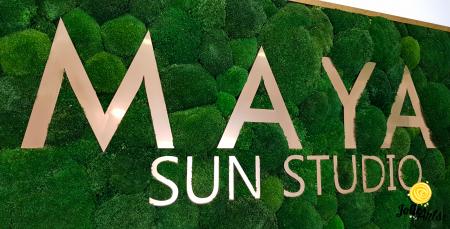 Logo Maya, dimensiune 60 x 120 cm,  muschi bombati verde inchis, Jolie Arts, www.tablouriculicheni.ro-7 [6]