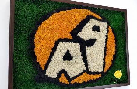 Logo A 1, decorat cu licheni si muschi plati [3]