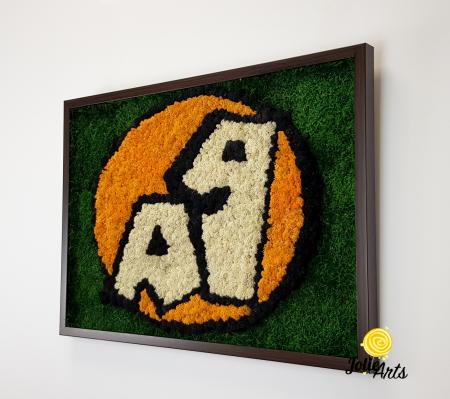 Logo A 1, decorat cu licheni si muschi plati [2]