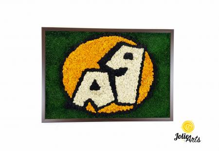 Logo A 1, decorat cu licheni si muschi plati [1]