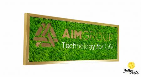 Logo personalizat cu licheni naturali stabilizati, AIM GROUP [0]