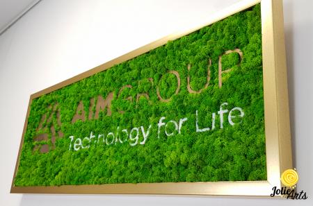Logo personalizat cu licheni naturali stabilizati, AIM GROUP [4]
