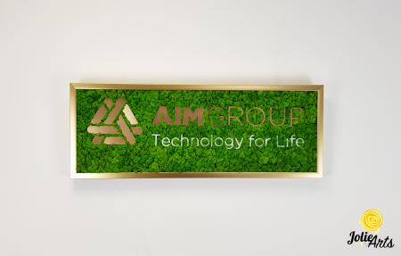 Logo personalizat cu licheni naturali stabilizati, AIM GROUP [2]