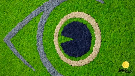 Logo personalizat cu licheni naturali stabilizati, clinica oftalmologica [2]