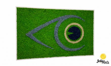 Logo personalizat cu licheni naturali stabilizati, clinica oftalmologica [0]