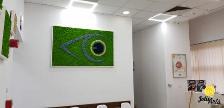 Logo personalizat cu licheni naturali stabilizati, clinica oftalmologica [4]