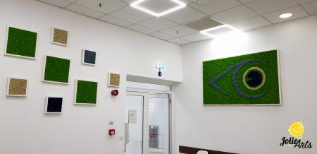 Logo personalizat cu licheni naturali stabilizati, clinica oftalmologica [5]