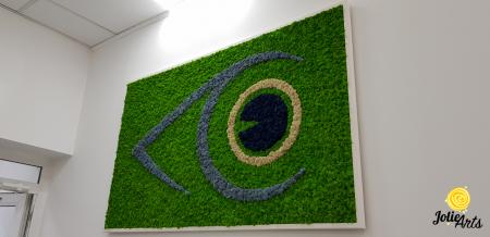 Logo personalizat cu licheni naturali stabilizati, clinica oftalmologica [3]