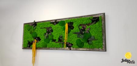 Model Amaranthus Galben, rama personalizata gri patinat [1]