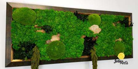 Model Amaranthus Verde, rama patinata verde cu insertii aurii [4]