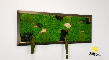 Model Amaranthus Verde, rama patinata verde cu insertii aurii [3]