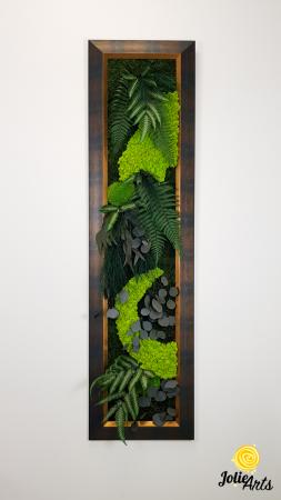 Model Amazon, dimensiune 40 x 150 cm, rama albastru patinat cu insertii aurii, Jolie Arts, www.tablouriculicheni.ro-3 [7]