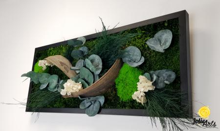 Model Aris, tablou muschi, plante stabilizate si decor natural-4 [4]