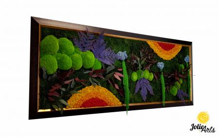 Model Curcubeu Clasic, rama maro patinat cu insertii aurii, dimensiune 60 x 200 cm, Jolie Arts, www.tablouriculicheni.ro-3 [0]