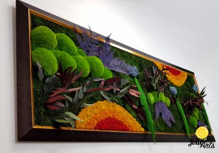 Model Curcubeu Clasic, rama maro patinat cu insertii aurii, dimensiune 60 x 200 cm, Jolie Arts, www.tablouriculicheni.ro-3 [4]