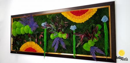 Model Curcubeu Clasic, rama maro patinat cu insertii aurii, dimensiune 60 x 200 cm, Jolie Arts, www.tablouriculicheni.ro-3 [1]