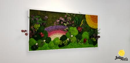 Model Curcubeu personalizat: muschi natural, licheni si plante conservate [1]