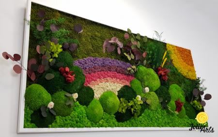 Model Curcubeu personalizat: muschi natural, licheni si plante conservate [4]