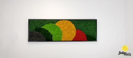 Tablou licheni si muschi naturali stabilizati, Model Jamaica, dimensiune 20 x 80 cm, rama neagra-2 [2]