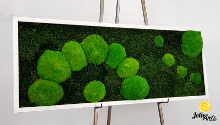 Model muschi naturali stabilizati de padure, dimensiune 40 x 100 cm, rama alba, Jolie Arts, www.tablouriculicheni.ro-2 [6]